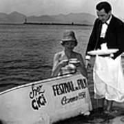 Breakfast On The Beach Cannes In 1956 Poster