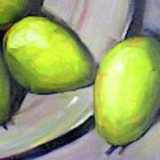 Breakfast Pears Poster
