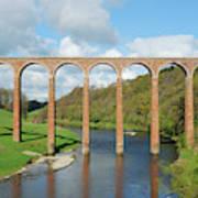 bridge over river Tweed near Melrose towards Gattonside Poster