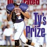 Brigham Young University Qb Ty Detmer Sports Illustrated Cover Poster