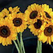 Bright Yellow Sunflowers Poster