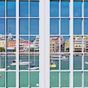 Brilliant Bermuda Cityscape Windows Poster