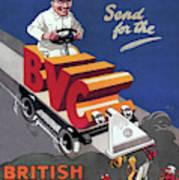 British Vacuum Cleaner Vintage Advert 1910 Poster