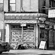 Brooklyn Deli Black White  Poster