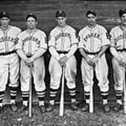 Brooklyn Dodgers Outfielders L. To R Poster