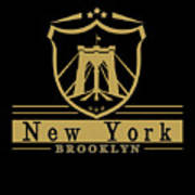 Brooklyn New York Bridge Pride Icon Poster