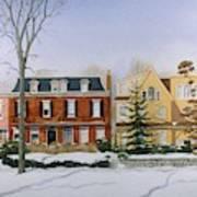 Broom Street Snow Poster
