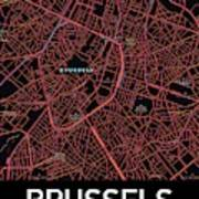 Brussels City Map Poster