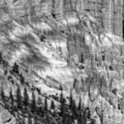 Bryce Canyon National Park Bw Poster