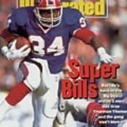 Buffalo Bills Thurman Thomas, 1992 Afc Championship Sports Illustrated Cover Poster