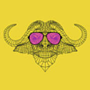Buffalo In Pink Glasses Poster