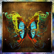 Butterfly Abstract Poster