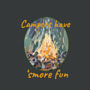 Campers Have Smore Fun Poster