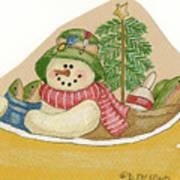 Canoe Snowman Poster