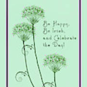 Card For St. Patrick's Day Poster