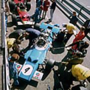 Cars At The British Grand Prix Poster