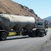 Cement Truck Turning Poster