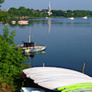 Chambly Basin And The Church Of St Joseph In Quebec Poster