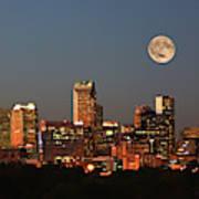 Charlotte City Skyline At Sunset Poster