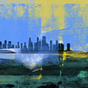 Chicago Abstract Skyline I Poster