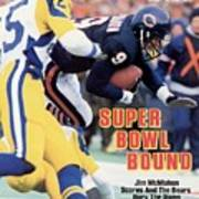 Chicago Bears Qb Jim Mcmahon, 1986 Nfc Championship Sports Illustrated Cover Poster