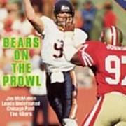 Chicago Bears Qb Jim Mcmahon... Sports Illustrated Cover Poster