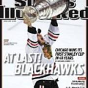 Chicago Blackhawks Jonathan Toews, 2010 Nhl Stanley Cup Sports Illustrated Cover Poster