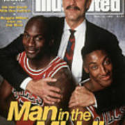 Chicago Bulls Coach Phil Jackson, Michael Jordan, And Sports Illustrated Cover Poster