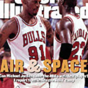 Chicago Bulls Dennis Rodman And Michael Jordan Sports Illustrated Cover Poster