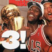 Chicago Bulls Michael Jordan, 1993 Nba Finals Sports Illustrated Cover Poster
