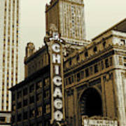 Chicago Cinema Theater - Vintage Photo Art Poster