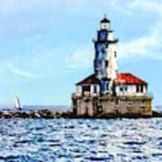 Chicago Il - Chicago Harbor Lighthouse Poster