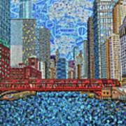 Chicago Wells Street Bridge 2 Poster