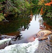 Chikanishing River In Autumn Poster