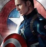 Chris Evans Captain America  Avengers Poster