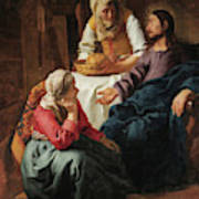Christ In The House Of Martha And Mary, 1656 Poster