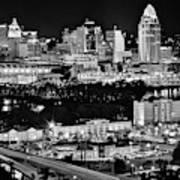 Cincinnati Covington And Ohio River Poster