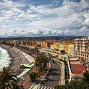 City Skyline Of Nice In France Poster