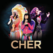 Classic Cher Trio Poster