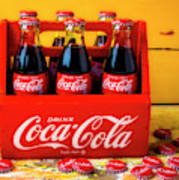 Classic Six Pack Of Cokes Poster
