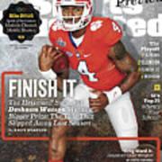 Clemson University Deshaun Watson, 2016 College Football Sports Illustrated Cover Poster