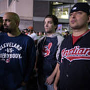 Cleveland Indians Fans Gather To The Poster