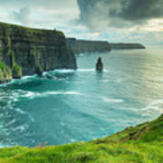 Cliffs Of Moher At Sunset Co Clare Poster