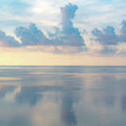 Cloud Reflections On Pamlico Sound Poster