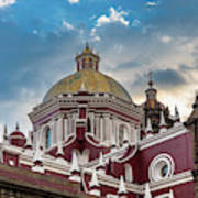 Clouds Over Puebla Cathedral Poster