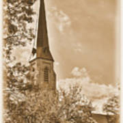 Clustered Spires Series - All Saints Episcopal Church No. 8cs - Frederick Maryland Poster