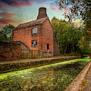 Coalport Bottle Kiln Sunset Poster