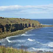 coastal bay at Cove with cliffs Poster