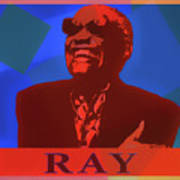 Color Pop Art Tribute To Ray Charles Poster
