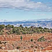 Colorado Blue Sky Red Rocks Clouds Trees 2 10212018 2857 Colorado  Poster